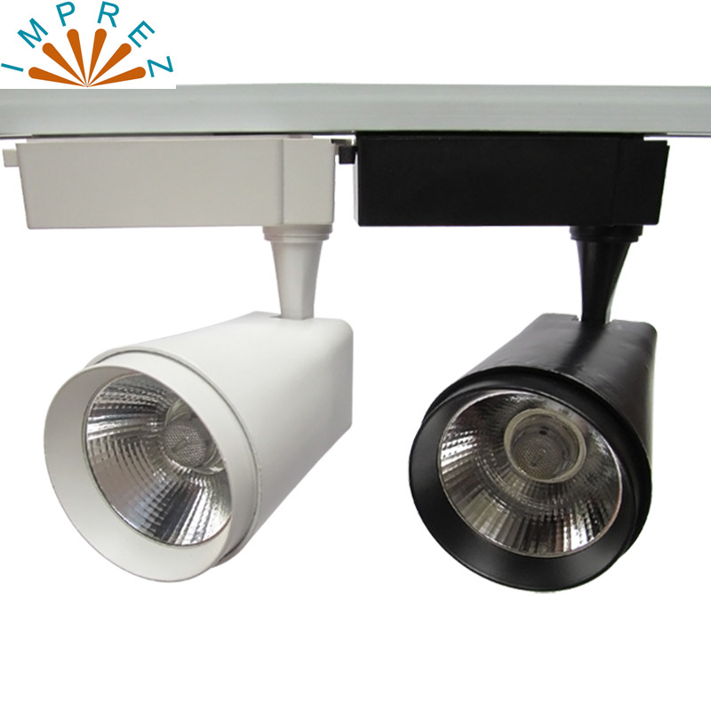 2/3/4 Wire COB LED Track light 20w led spot for exhibition hall show room led track rai lighting 100-110LM/W AC85-265V