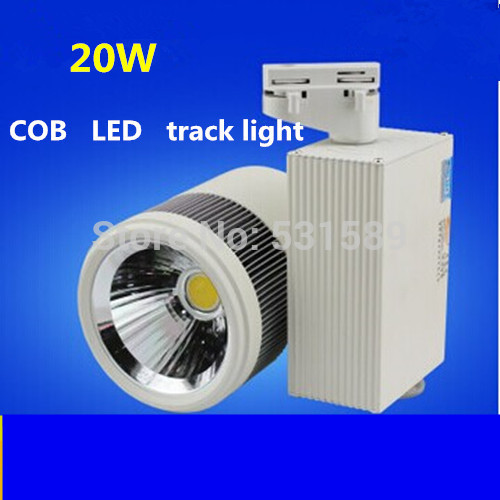 20pcs/lot Free shipping20w LED Track Spotlight 85~100LM/W Track light AC85~265V,Integrated chips 2 PIN