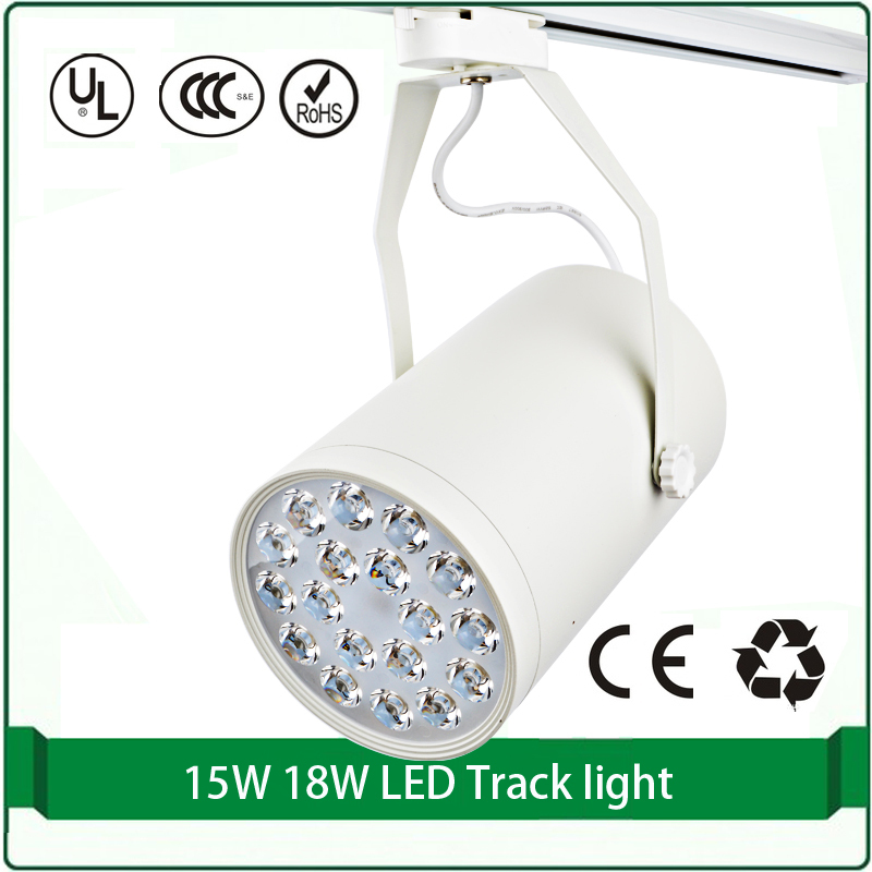 15W high power led track light led track lighting 2 phase track lights