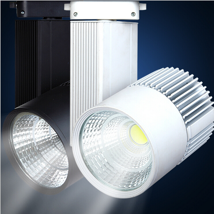 Wholesale price 30W COB LED Track Light Warm White/Natural White/Cold White Led Spot Tracking Light Black/White Shell AC85-265V