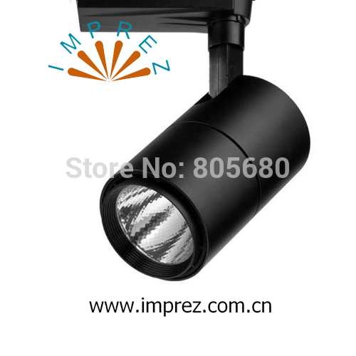New COB Led Track Light 30W LED Rail Spotlight shopping mall usage black and white housing warm white cold white