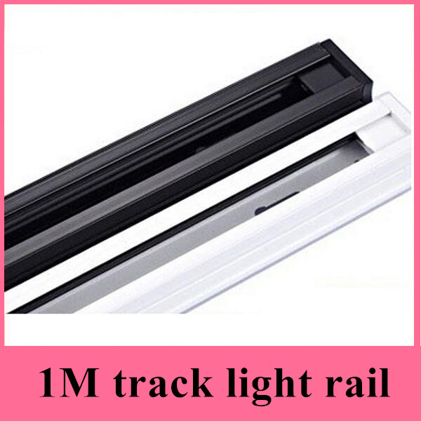 1m LED track light rail track lighting fixture rail for track lighting Universal rails,track lamp rail,free shipping(10pcs/lot)
