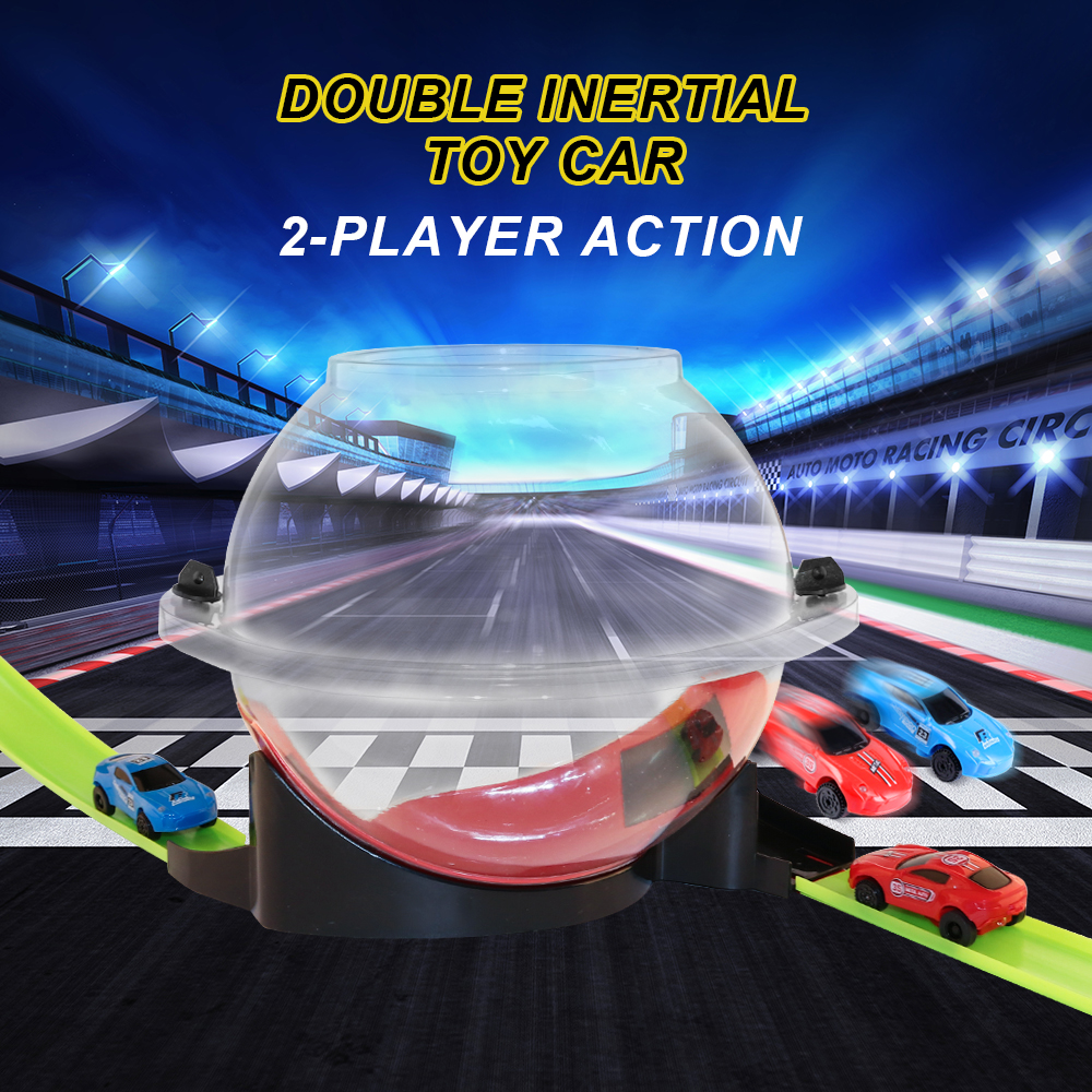 New children's track racing car  interactive  3D dazzle lighting racing competition car toy  stimulate children's interest