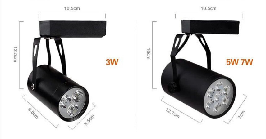 1pcs resell Free Ship 5w integration LED track light for store/shopping mall lighting lamp Color optional White/black Spot light