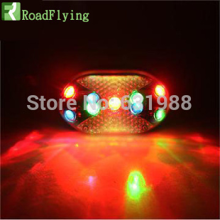 9 LED Rear Tail Red Bike Bicycle Back Light cycling Safety Warning lights free shipping Brand new Multiple shiny Strobe lamp