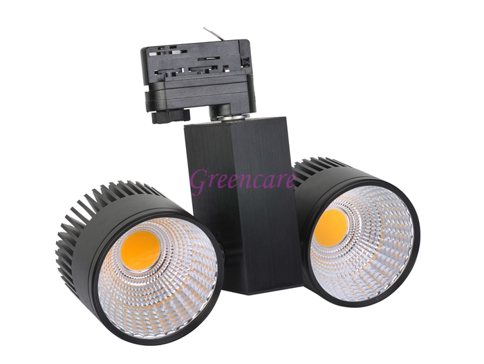 New 60W COB LED Track light AC 85V-265V energy savinig lamp for store shopping mall 2 Rail lighting Warm Cold Natural White
