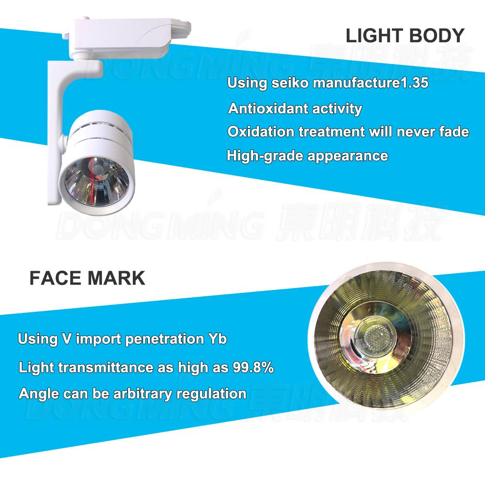 2015 Best product 30W COB led track light decorative supermarket store spot lamps warm white/white 2pcs