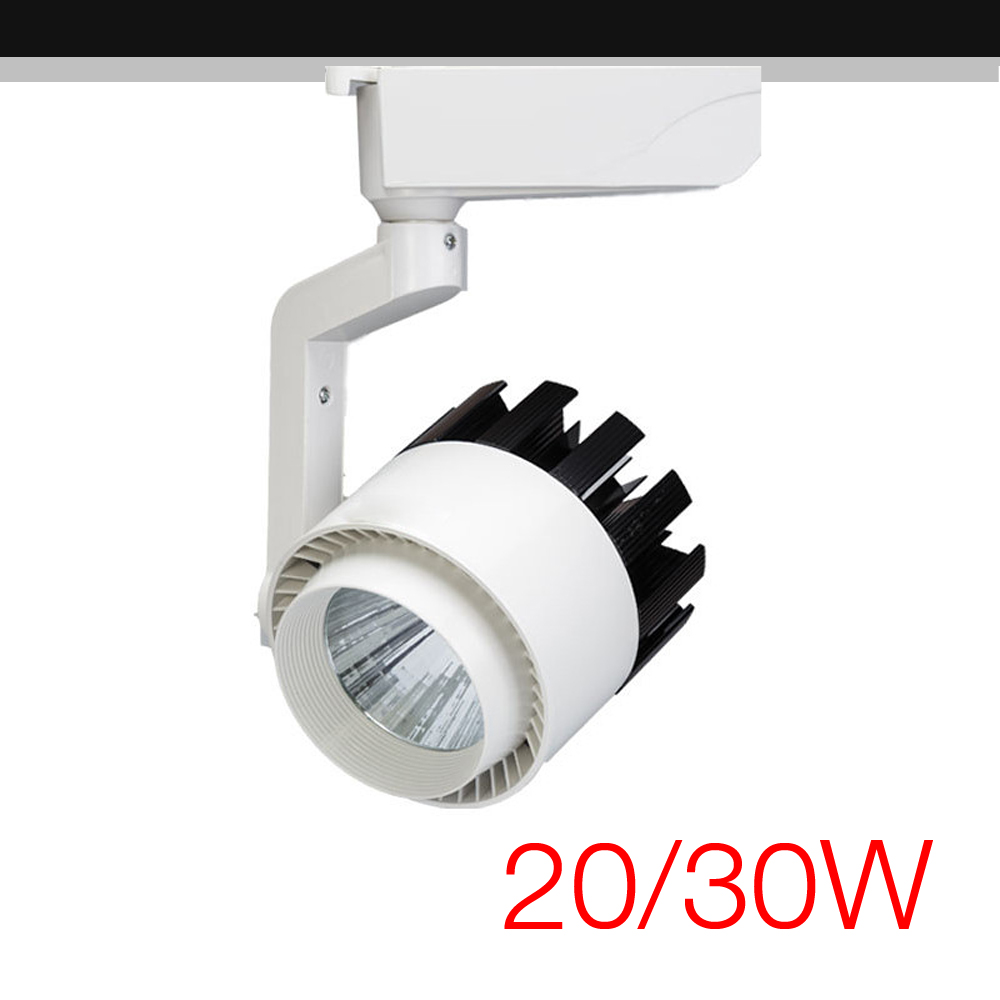 High Power COB LED Track Light 20W / 30W Track Rail Spotlight Lamp for Commercial Store Office Home Lighting