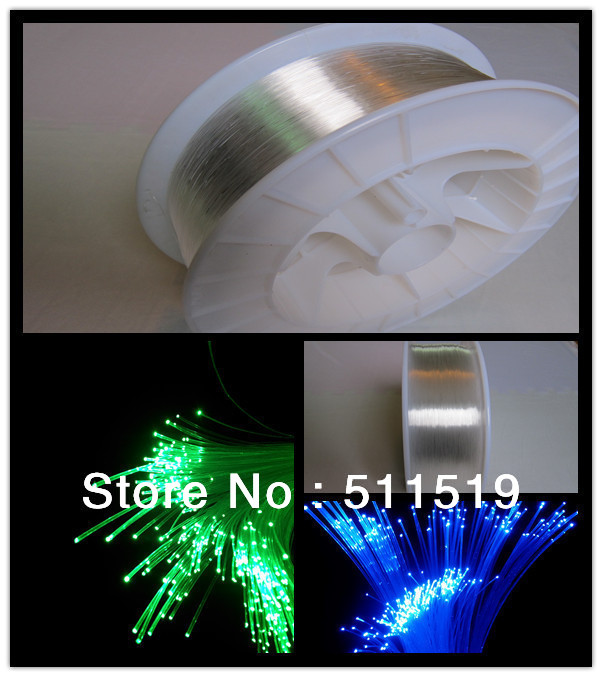 LED fiber optic light,end  glow 2 mm  fiber cable  350m /roll    for optic light  and plastic  fiber optic  chandelier,