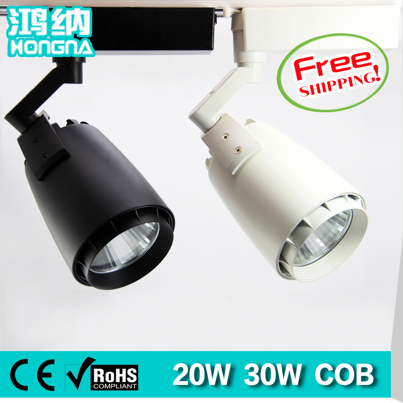 Free Shipping 20W LED Track Lights COB Track Lighting AC110V/220V Clothing Shop/Shopping Mall/Home/Exhibition Room