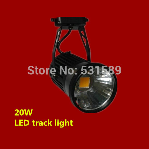 Free shipping 20w LED Track Spotlight 85~100LM/W Track light AC85~265V,Integrated chips 2 PIN 20pcs/lot