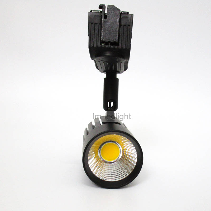 COB 10W track spotlight in black white track head 85-265V warm white day white purewhite led track light spot 50pcs free ship