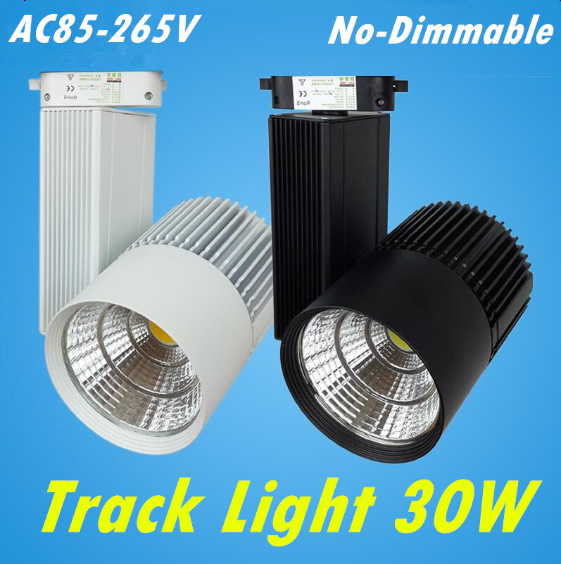 LED Track Light 30W  COB Rail Light Spotlight Lamp Replace 300W Halogen Lamp 110v 120v 220v 230v 240v Spot Lamp Bulb