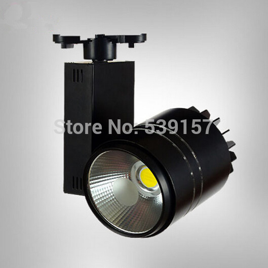 Hot sale Super 30W COB LED Track Lighting  White/Black Shell Free Shipping