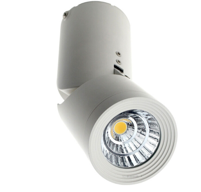 Hot sale !Dimmable 15W COB LED track light 15W COB track light 110V/240V clothing store track spot lighting high bright