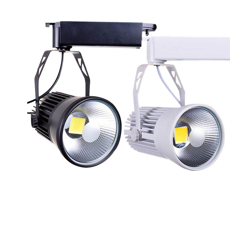 30X High quality classic series 50W high CRI COB LED track light with bridgelux LED chip AC 85-265V input express free shipping