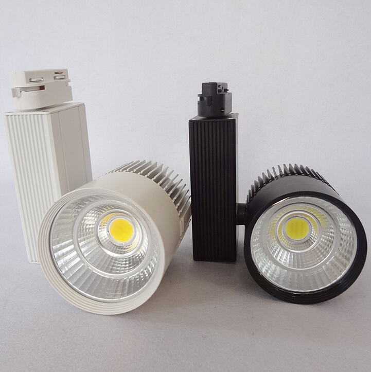 Free Shipping LED Track Light 30W COB Rail Light Spotlight Lamp  Warm/Cold/ Natural White COB Led Track lamp AC85-265V