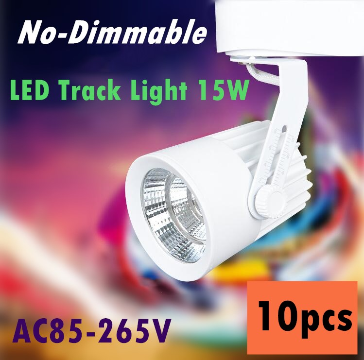 110V 220V 230V 240V track spotlight LED rail spot light lamp COB 15W LED track light Free Shipping 10pcs/lot