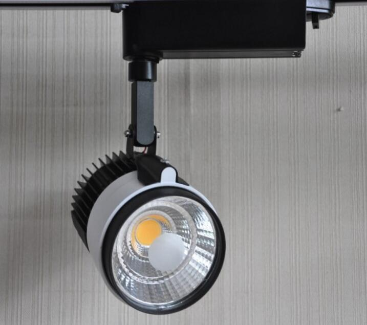 Wholesale Retail 30W COB LED Track Light Spot Wall Lamp Spotlight Tracking LED AC85~265V Noverty light New Arrival 10pcs