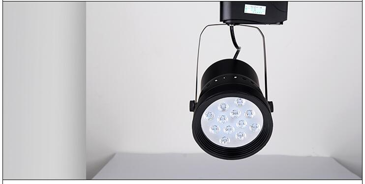 LED Track Light Dimmable 12W  Rail Lamp 130-140lm/W Spotlight Shoe Clothing Store Shop Lights Supermarket Indoor Lighting