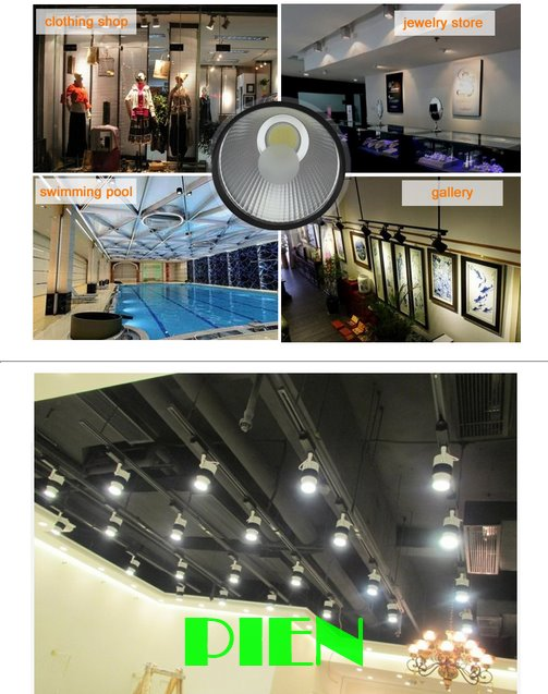 30W Cob led track lamparas Modern spot kitchen lights Art gallery indoor lighting +10pcs 1m track rail CE&ROHS by DHL 20pcs