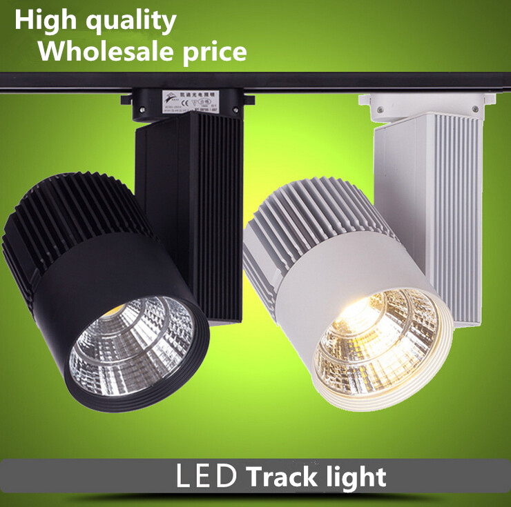 Free Shipping Super LED Track Light 30W  Warm Cold  White COB Rail Light Spotlight  Lamp  AC85-265V