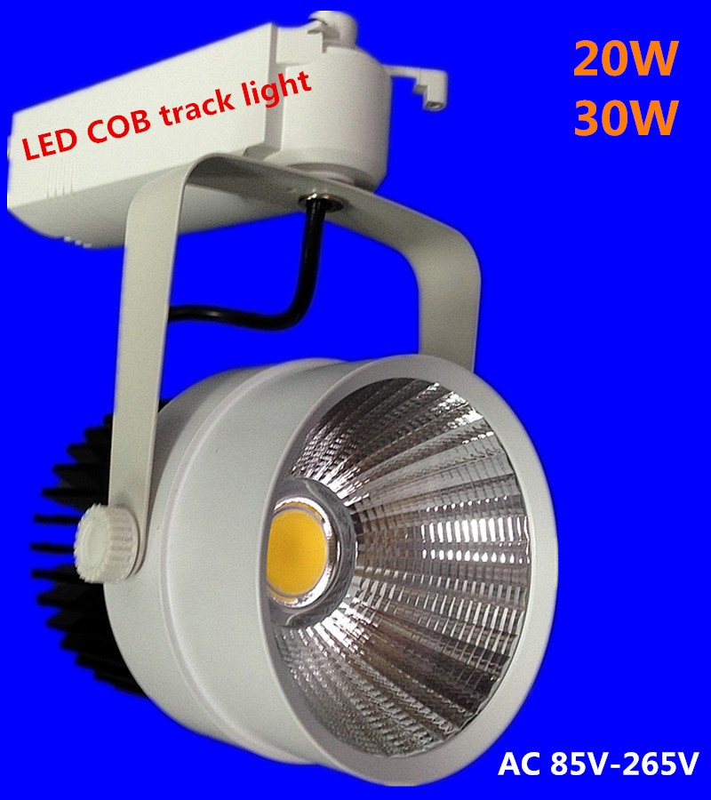LED Track Light 30W COB Rail Light Spotlight Lamp Replace 300W Halogen Lamp 110v 230V Boutiques Bar Lights led ceiling Art US UK