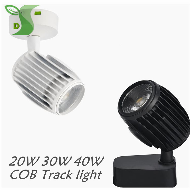 LED track light spot light cob rugby down tlight 20W 30W 40W backdrop light guide rail slide light for clothing store Home