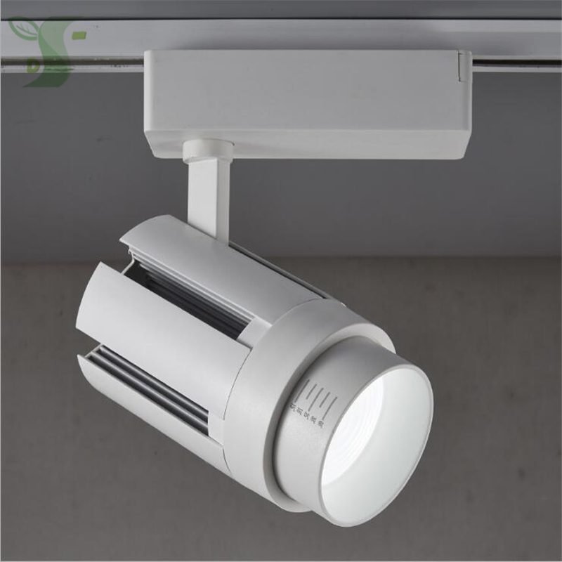 20w 30w led track light zoom rail light cob refletor led ac85-265v 2800k 4000k 6000k white black color Zoomable light