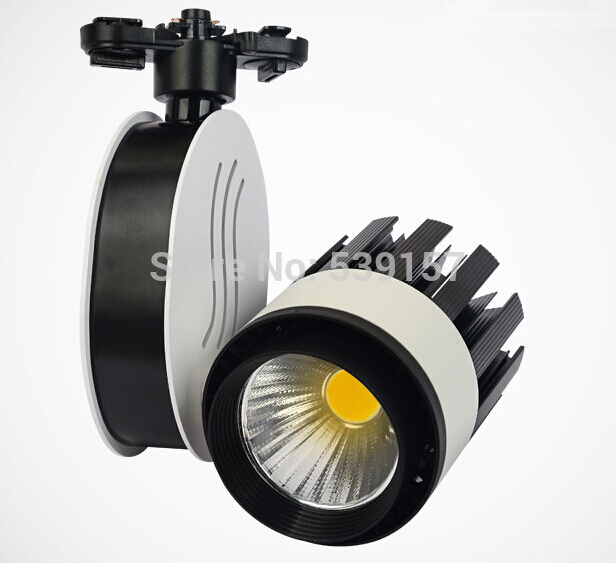 Free shipping LED track light 30W COB high lumens high quality commercial light rail lamp 85-265V