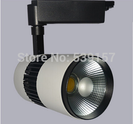 LED Track Light 30W COB Bridgelux Chip From USA,Equal to 200w Halogen Lamp,Rail Light Spotlight,fast free shipping(8pcs/lot)