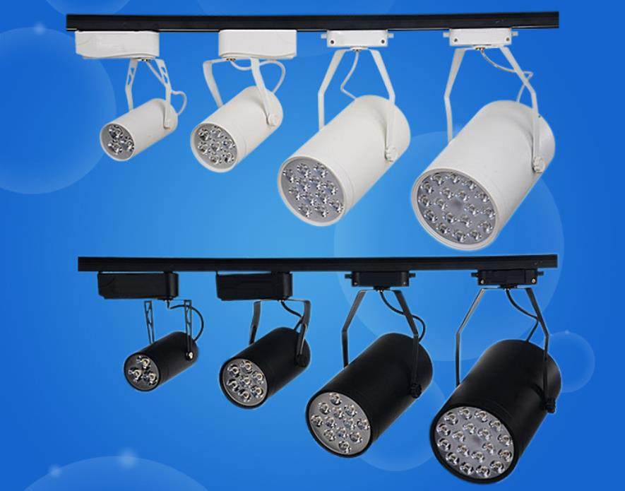 FREE SHIPPING Cool white Led Track Light 18W 30-60 Beam angle Led Ceiling Spotlight AC 85-265V led spot lighting