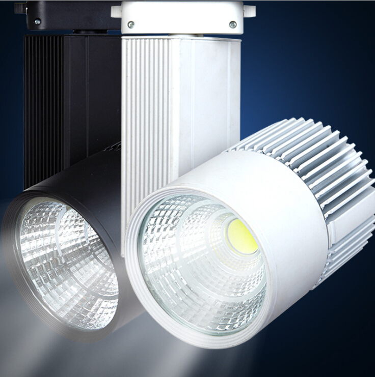 8pcs Wholesale 30W Integration COB LED Track Light for store/shopping mall lighting lamp Color optional White/black Spot light