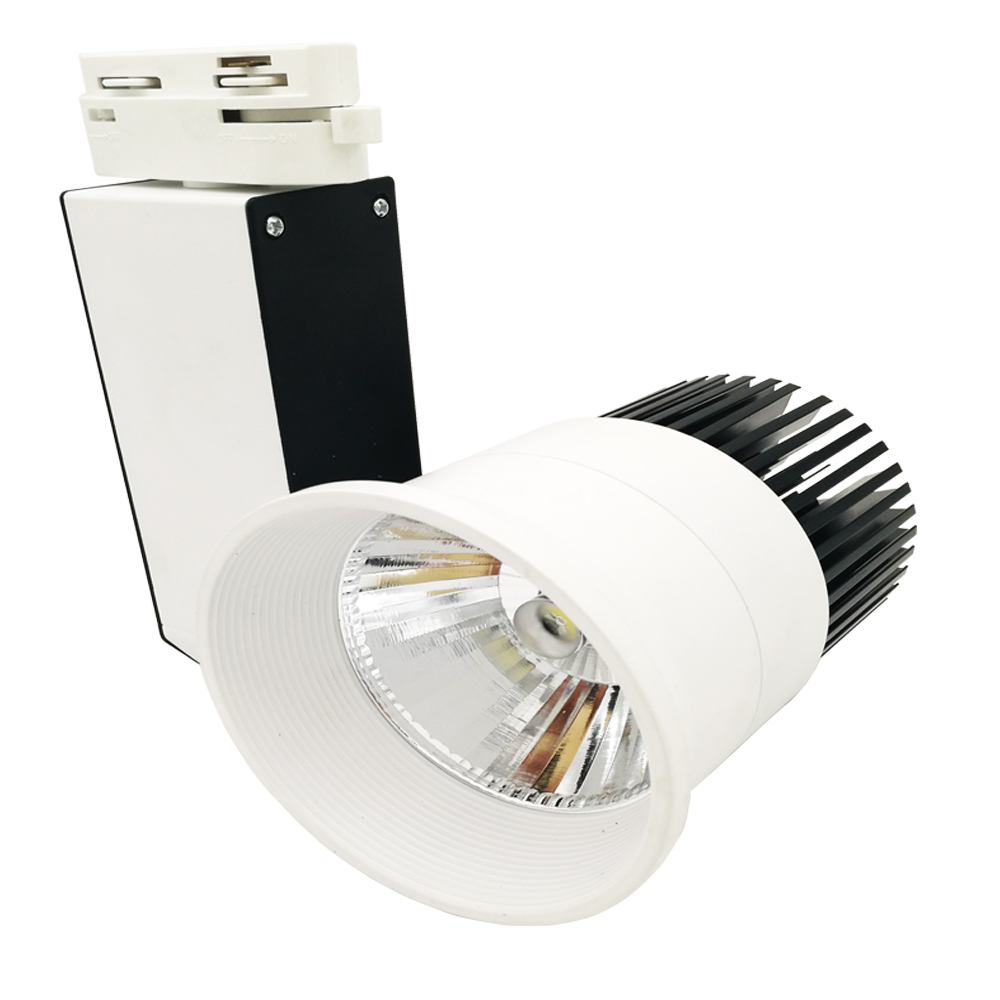 Black add white body AC85-265V 30w COB LED Track Lighting For Store Muzeum And clothing shop flexible track lighting