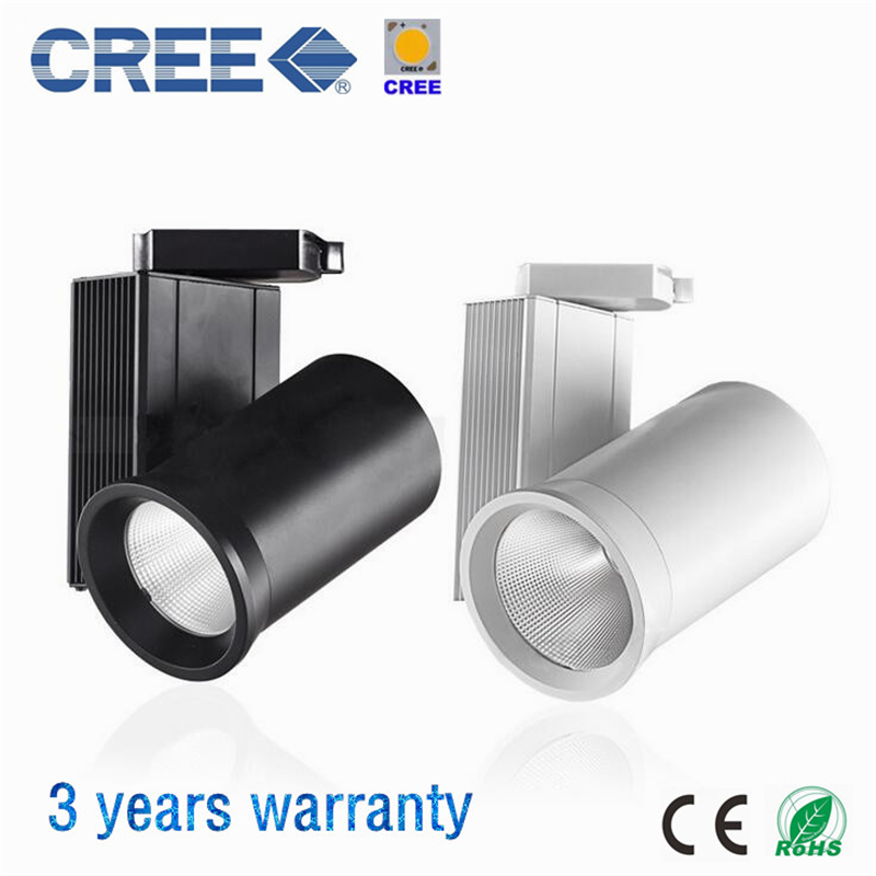 CREE COB LED Track Lighting 24W 40W LED Track Lamps Indoor Lighting AC85-265V White/Black Body LED Track Lights 10pcs/lot