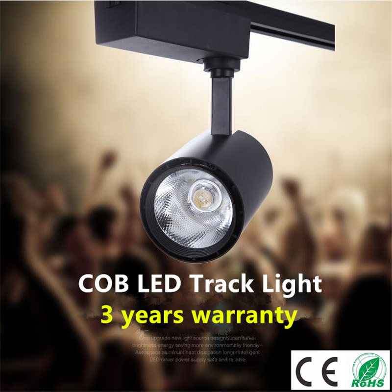 COB 20W 30W LED Track light AC85-265V Track Lighting Retail Spot Wall Lamp Rail Spotlights Replace Halogen Lamps