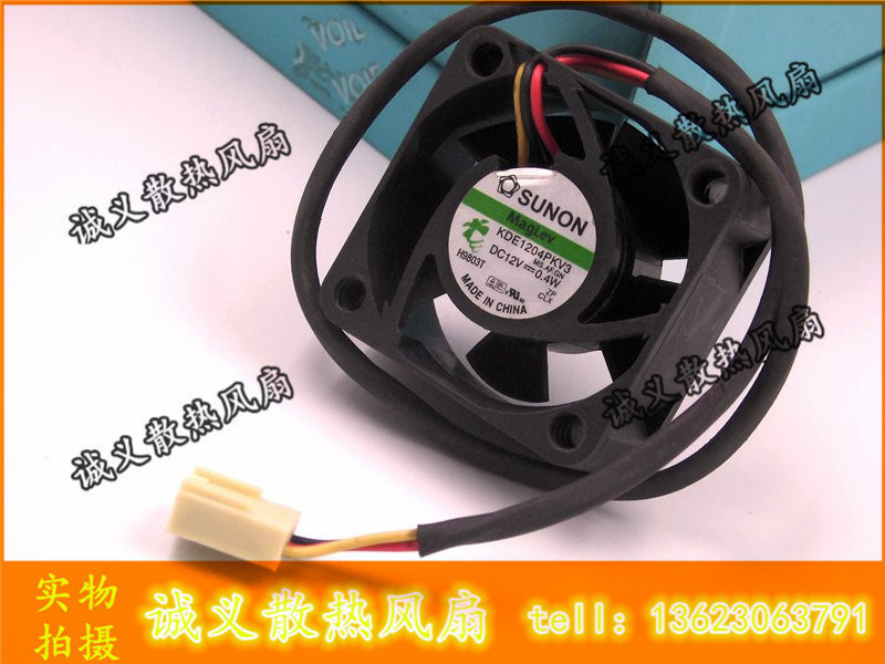 Free Shipping Original Sunon KDE1204PKV3 4020 40X40X20 DC 12V 0.40W server inverter cooling fan