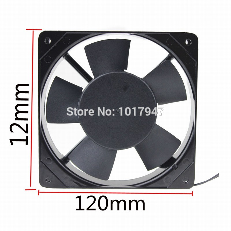 1 PCS Gdstime AC 220V 240V 2Wire 12cm Cooling Case Fan 120mm 25mm 120x25mm