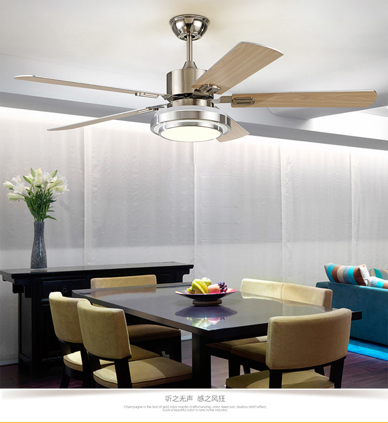 Ceiling fan restaurant with a bedroom living room lamp ceiling fan lamp iron fan leaf shipping Wall control ZA FS2