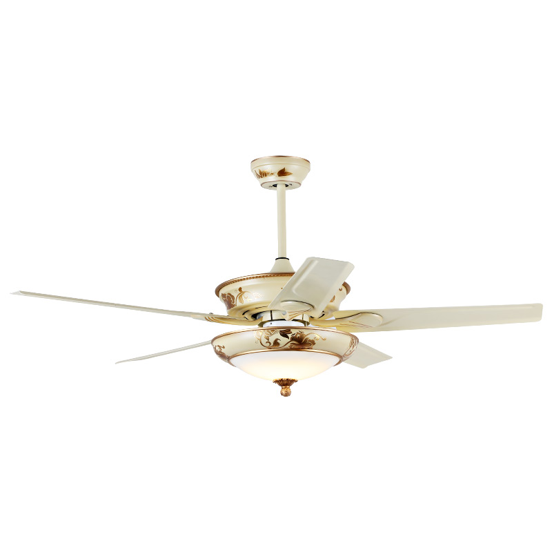 LED ceiling fan modern 42 inch fan dining room LED European antique living room fan with LED Lighting