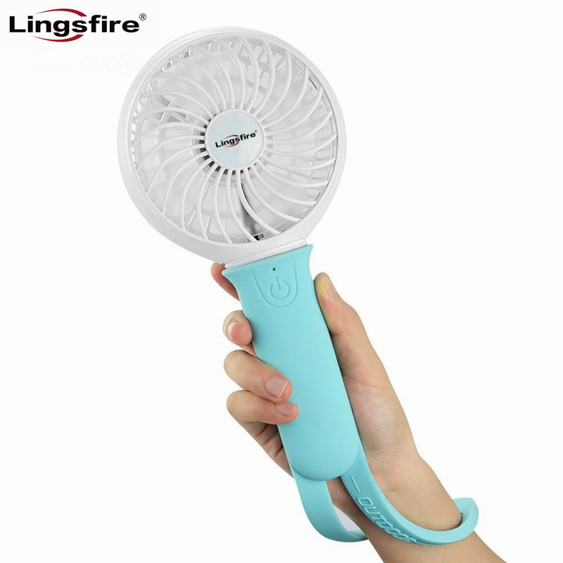 Portable Mini Fan 3 Speeds Rechargeable USB Fan Personal Handheld Fan with LED Light Silicone 18650 Li-ion 2200mAh Battery