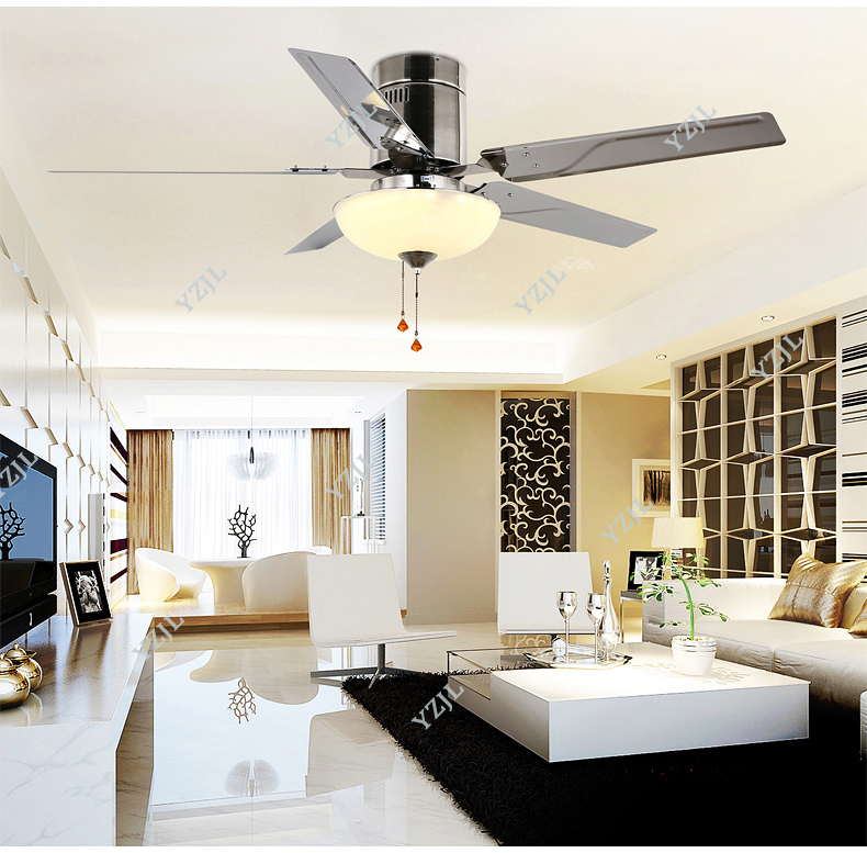 Lights & Lighting 52 European Classical Copper Iron Leaf Led E27*5 Ceiling Fan Light For Dining Room Living Room Bedroom Deco 1587 Ceiling Lights & Fans