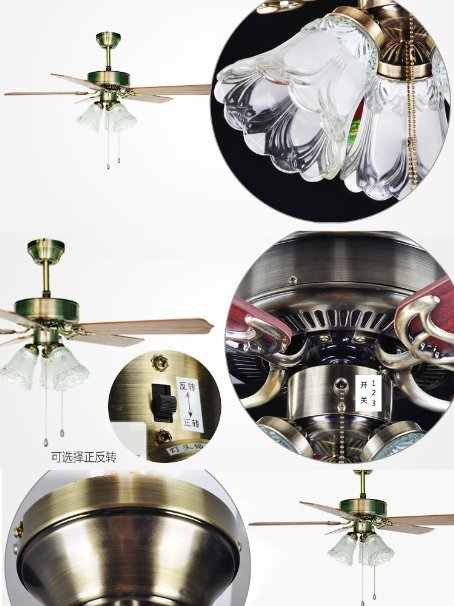 Classical European minimalist home ceiling fan light fan lights ceiling fan with lights hanging