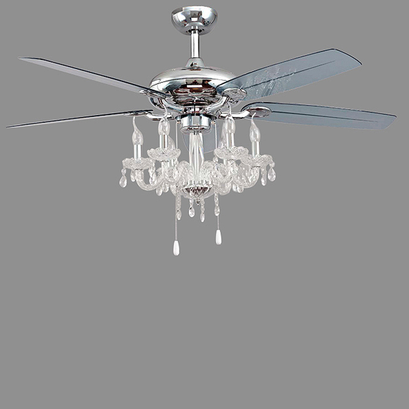 LED Modern Iron Crystal Plastic Ceiling Fan LED Lamp.LED Light.Ceiling Lights.LED Ceiling Light.Ceiling Lamp For Foyer Bedroom
