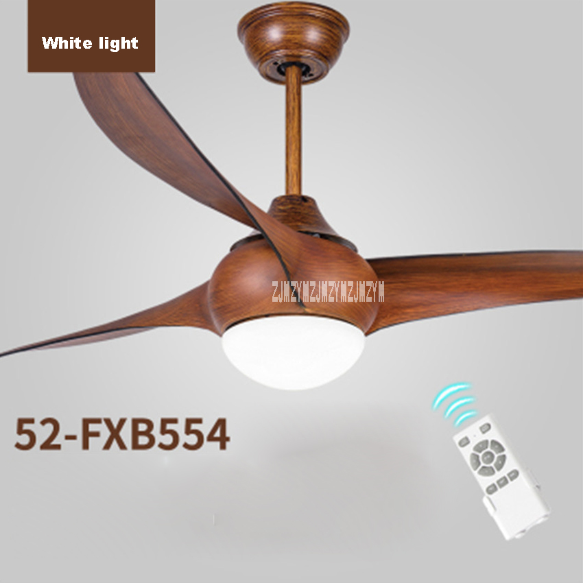 52 inch LED DC 30w village ceiling fans with lights minimalist dining room living room ceiling fan Light with remote control