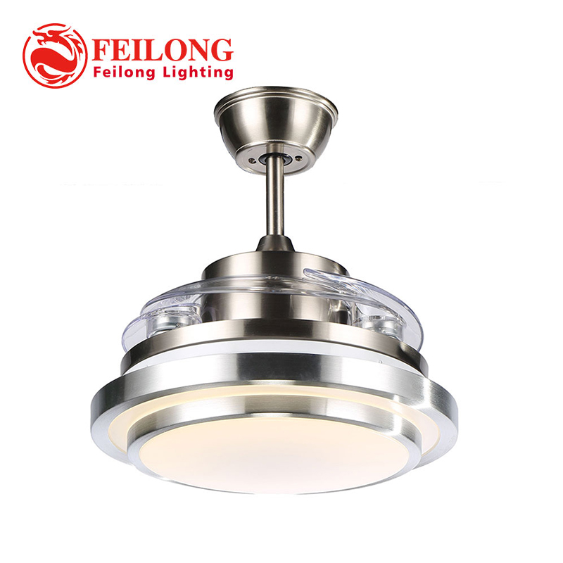 Free shipping New arrival LED Retractable Ceiling Fan Y4203 Energy Saving Remote Control Fan CEILING FANS with folded blades