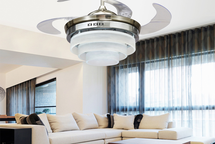 Modern minimalist LED ceiling Light ceiling fan lights stealth restaurant Fan ceiling fan lights high-end fashion bedroom 42inch