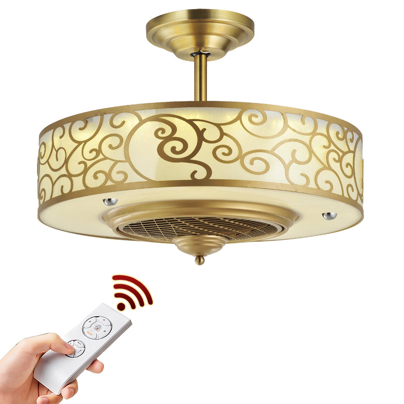 LED Nordic Iron Acrylic Copper Ceiling Fan.LED Lamp.LED Light.Ceiling Lights.LED Ceiling Light.Ceiling Lamp For Foyer Bedroom