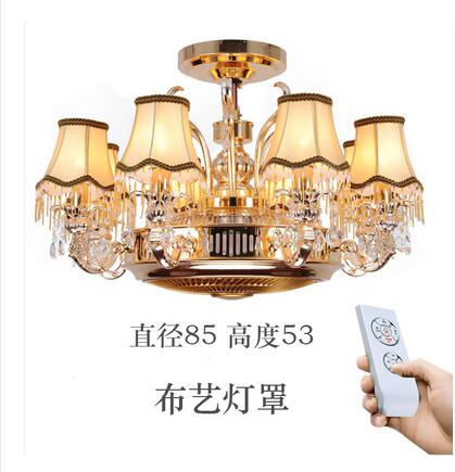 Ceiling fans lamp Anion stealth fan lamp ceiling lamp zinc alloy crystal european-style remote control lamps 8 Heads ceiling fan