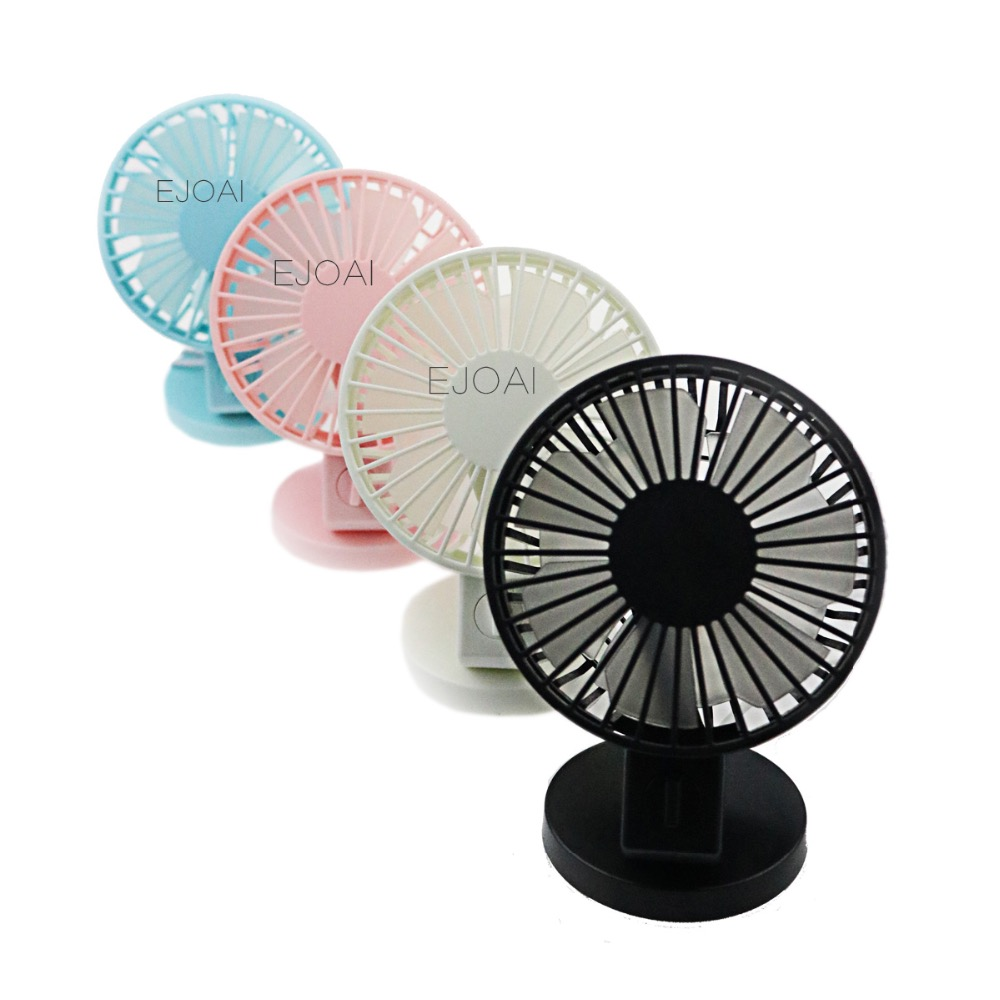 Ultra-quiet Mini USB Desk Fan Office Mini Fan Silent Desktop Fan With Double Side Fan Blades Creative Home